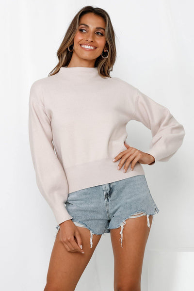 You Go Girl Knit Sweater Blush