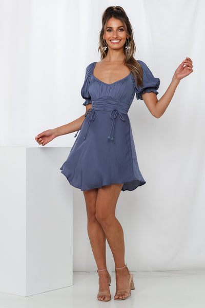 Predictable Charade Dress Midnight Blue