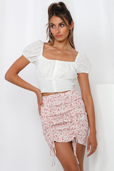 Asmara Crop Top White