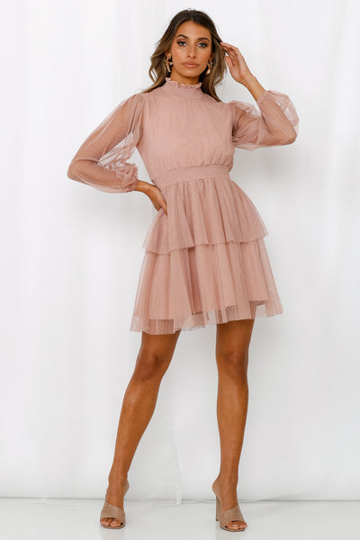 Stone City Monument Dress Dusty Pink
