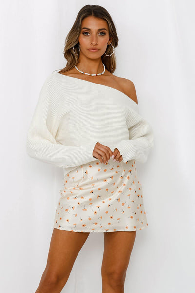 Sweet Return Knit Top White | Hello Molly USA