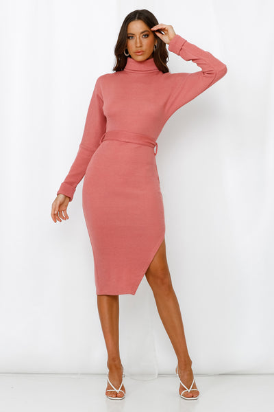 Starry Eyed Girl Knit Midi Dress