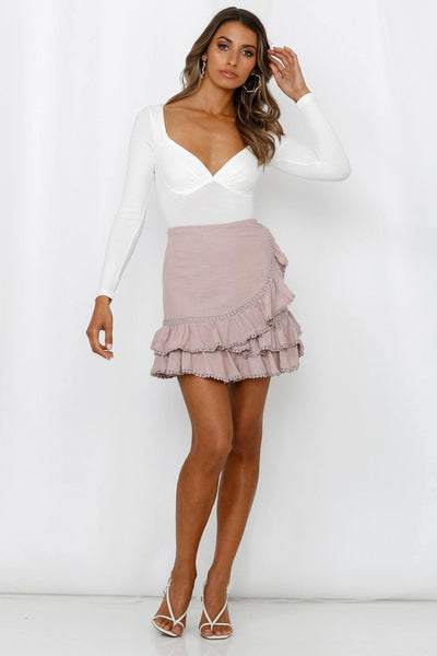 Dreamt About The Days Skirt Blush