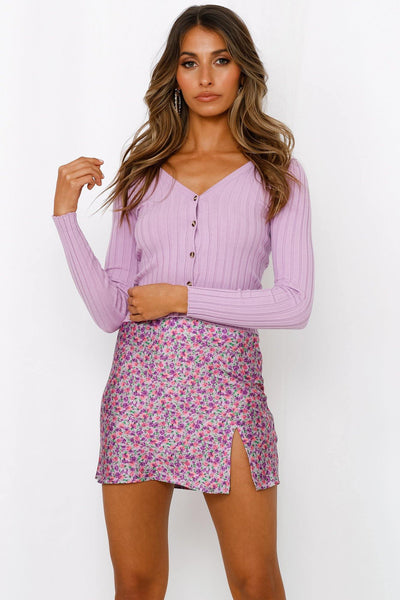 Alright Ladies Knit Cardigan Lilac | Hello Molly USA