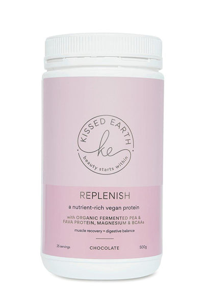 KISSED EARTH Replenish Protein Powder Chocolate 500g