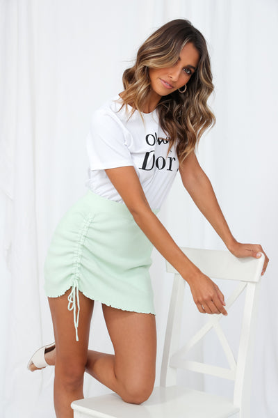 Ready In One Knit Skirt Mint