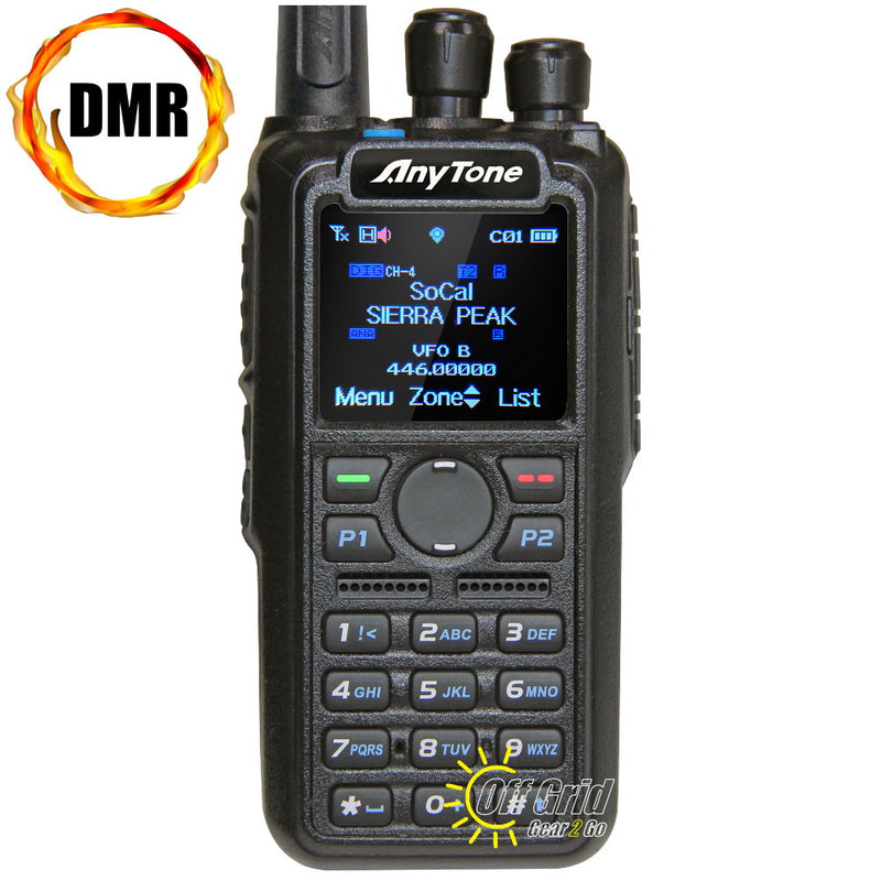 Anytone AT-D878UV Digital DMR Dual-Band Handheld Commercial Radio with Roaming and GPS - No Bluetooth