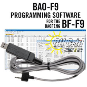 RTS Baofeng BAO-F9 Programming Software Cable Kit