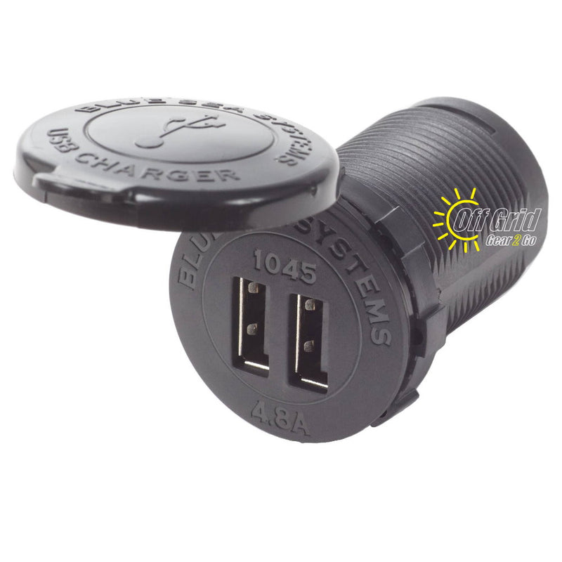 Blue Sea 1045 Fast Charge Dual USB Charger Socket Mount