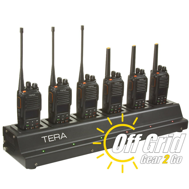TERA CRG-76 Rapid Multi-Unit 6-Bay Gang Charger for TR-7200/TR-7400 Handheld Radios