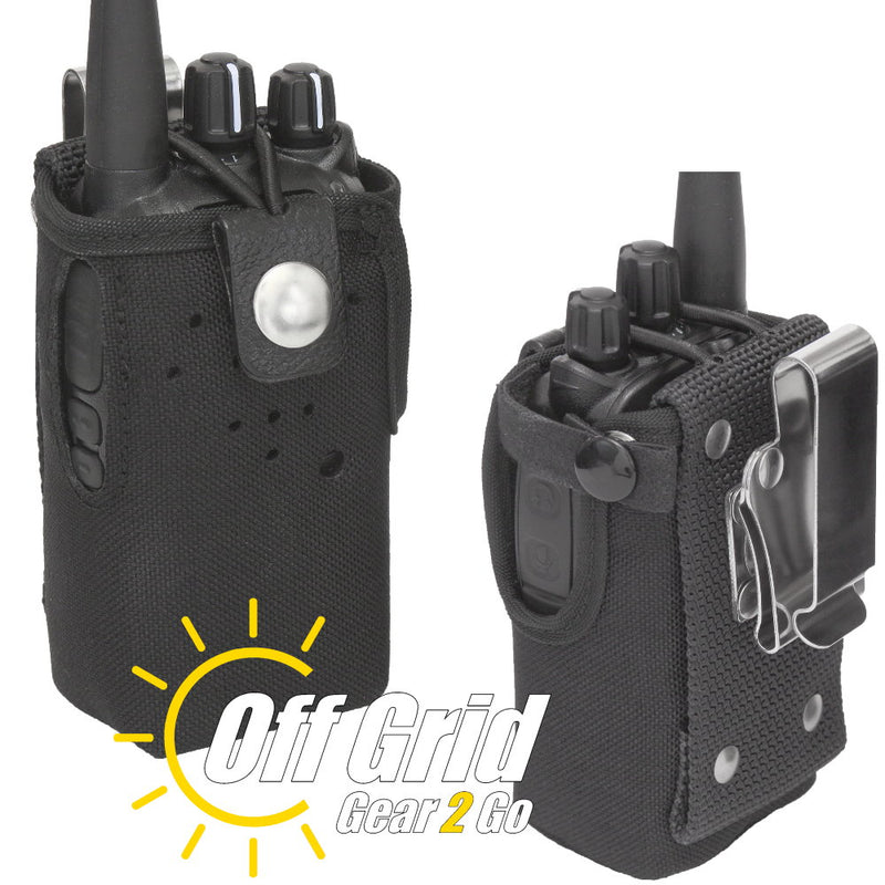 TERA CSC-500 Heavy Duty Nylon Solid Radio Case with Stainless Belt Clip
