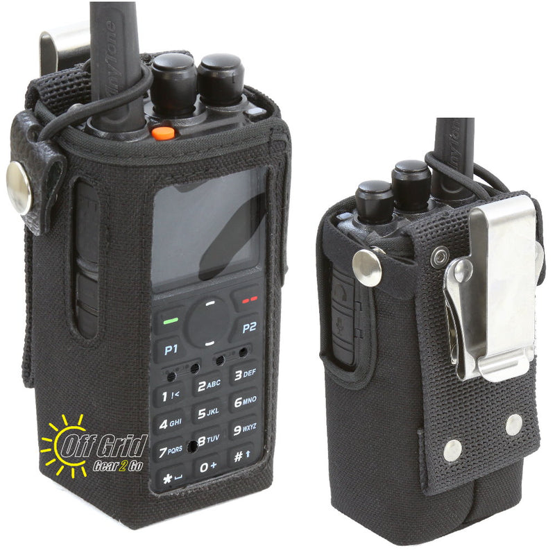 CSC-868 Heavy Duty Nylon Windowed Radio Case with Stainless Belt Clip for Anytone AT-D878UV &AT-D868UV