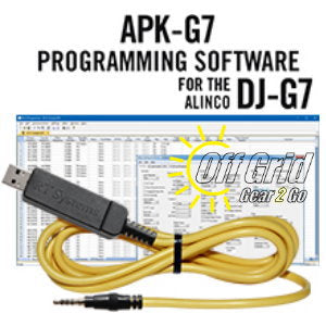 RTS Alinco APK-G7 Programming Software Cable Kit
