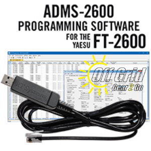 RTS Yaesu ADMS-2600 Programming Software Cable Kit