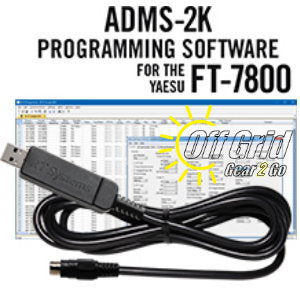 RTS Yaesu ADMS-2K Programming Software Cable Kit