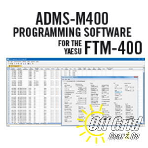 RTS Yaesu ADMS-M400 Programming Software Only - No Cable