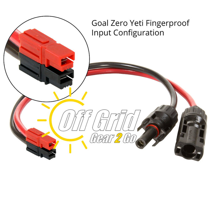 GZ-98014 Solar MC4 to Anderson Powerpole Input Adapter Cable for Goal Zero Yeti 1250