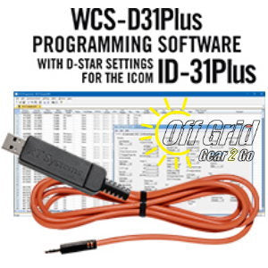 RTS ICOM WCS-D31Plus Programming Software Cable Kit