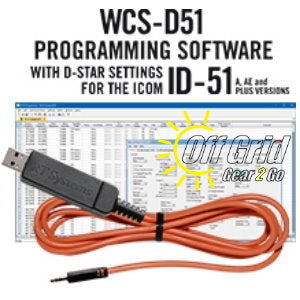 RTS ICOM WCS-D51 Programming Software Cable Kit