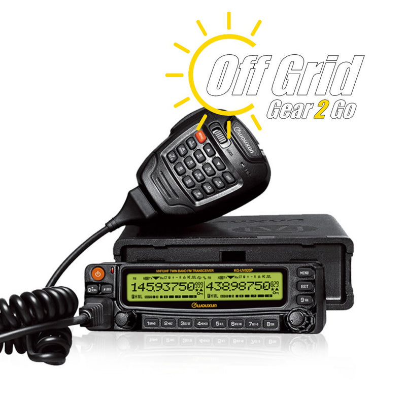 Wouxun KG-UV920P-A Dual-Band VHF/UHF 50 Watt Mobile Transceiver