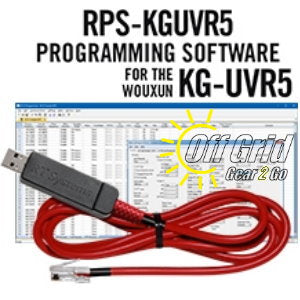 RTS Wouxun RPS-KGUVR5 Programming Software Cable Kit