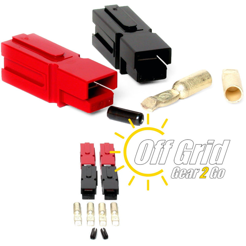 Powerpole PP75-08-2 75 Amp Red/Black Anderson Powerpole Connectors (Sets: 2)