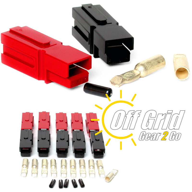 Powerpole PP75-08-10 75 Amp Red/Black Anderson Powerpole Connectors (Sets: 10)