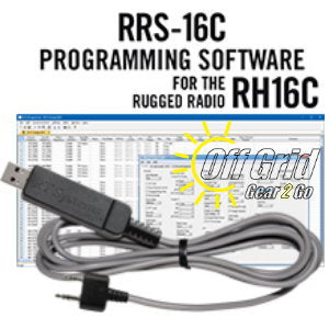 RTS Rugged Radio RRS-16C Programming Software Cable Kit