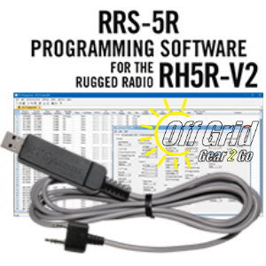 RTS Rugged Radio RRS-5R Programming Software Cable Kit