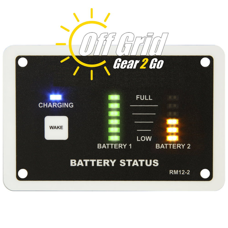 RM12-2 Single/Dual Bank Battery Monitor for Battery Chargers
