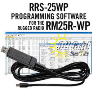 RTS Rugged Radio RRS-25WP Programming Software Cable Kit
