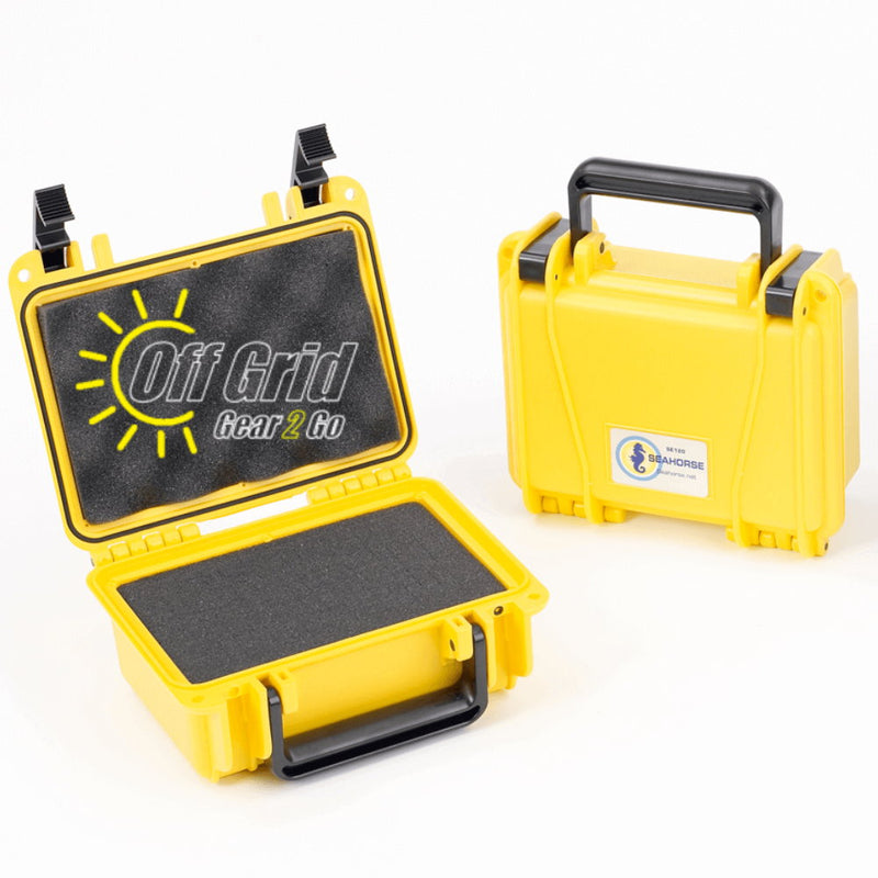 "Seahorse SE120F Yellow - Waterproof Protective Case with Foam Inserts (7.58 x 5.08 x 3.23"" Inside Dimension)"