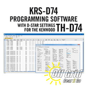 RTS Kenwood KRS-D74 Programming Software Only - No Cable