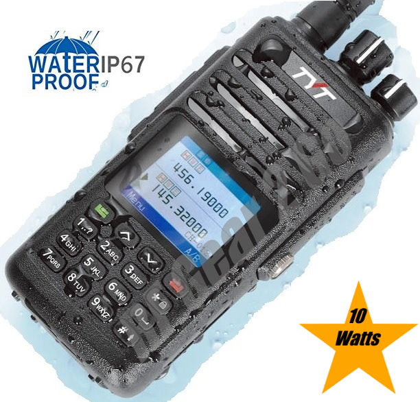 TYT TH-UV8200 IP67 Waterproof  Dual-Band VHF/UHF 10W Handheld Radio w/256 Memory Channels