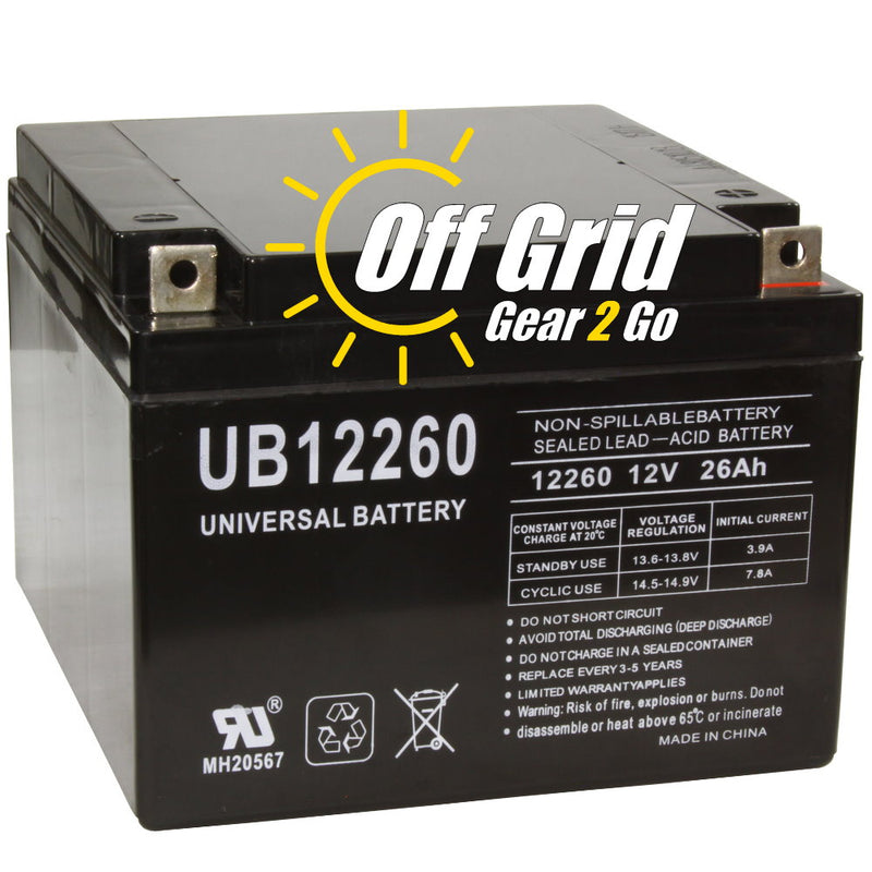 UPG UB12260 - D5747 12V 26Ah T3 Terminal Sealed Lead Acid (SLA) Battery