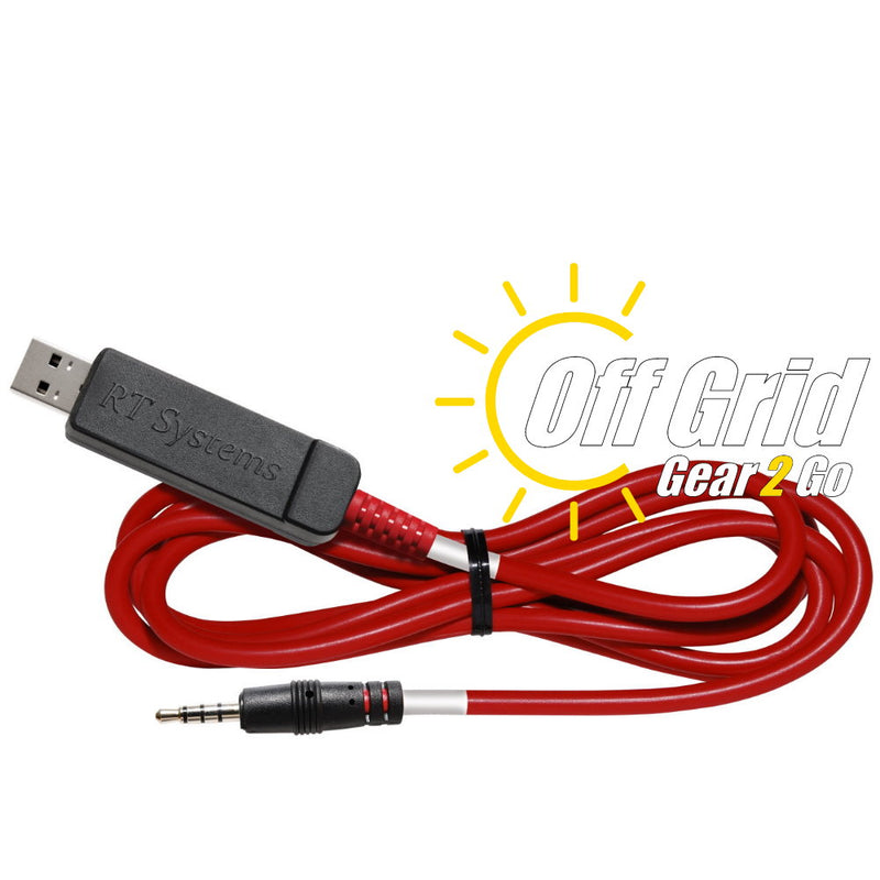 RTS USB-72 FTDI Programming Cable     (4-Conductor 3.5mm Plug - Red Cable w/ White Band)