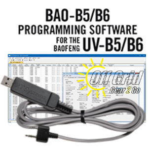RTS Baofeng BAO-B5/B6 Programming Software Cable Kit