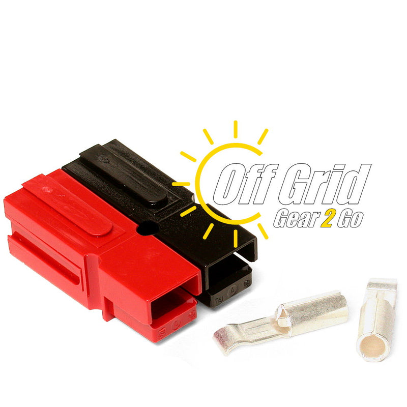 Powerpole WP30-50 30 Amp Permanently Bonded Red/Black Anderson Powerpole Connectors (Sets: 50)