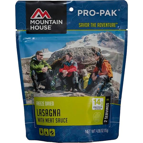 MH Freeze Dried LASAGNA with Meat Sauce Pro-Pak Pouch