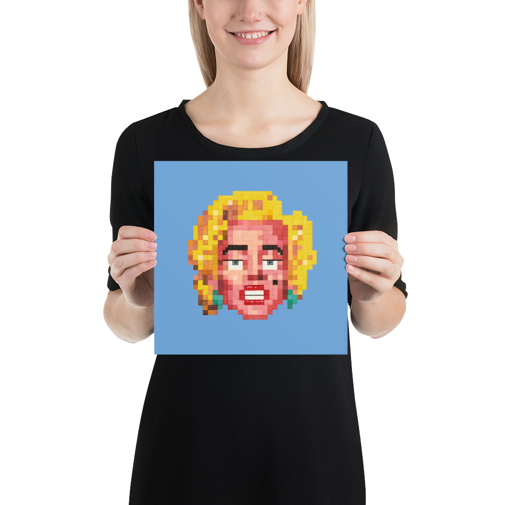 Pop Poster (Unframed) - The Marahlyn (Powder)
