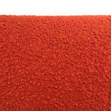 Load image into Gallery viewer, Orange Boucle Fabric - Polyester