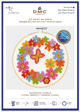 DMC Cross Stitch Kit - Floral Wreath