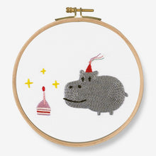 Load image into Gallery viewer, DMC Cross Stitch Kit - Birthday! Hippo