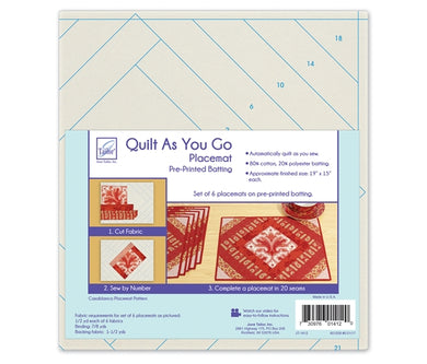 Quilt As you go by June Tailor - Casablanca Table Mats
