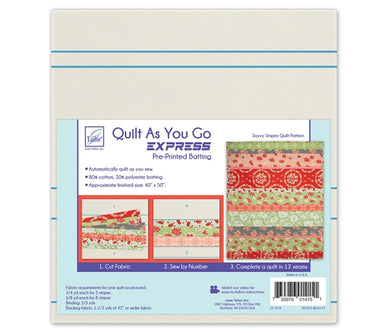 Quilt As you go by June Tailor - Savvy Stripes Quilt