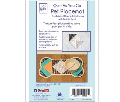Quilt As you go by June Tailor - Bone pet place mat