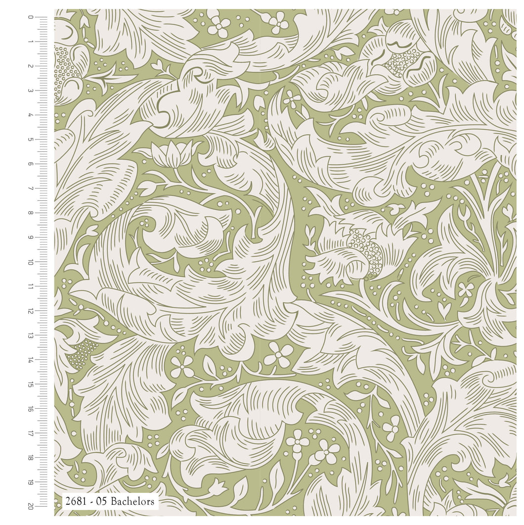 William Morris - Bachelors Fern - 100% Cotton