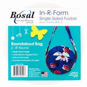 In R Form - Fusible Foam Stabiliser - Single Sided - Roundabout Bag
