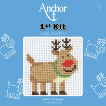 Load image into Gallery viewer, Anchor 1st Cross Stitch - Rudolph