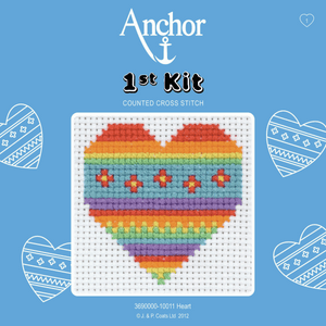 Anchor 1st Cross Stitch - Heart